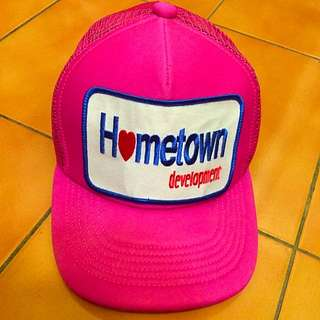 H❤️metown👒九成新📢粉色棒球網帽