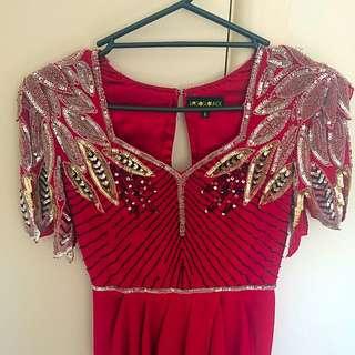 Red Virgos Lounge Dress