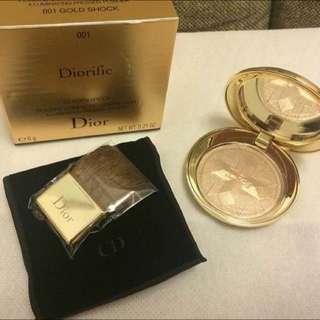 全新Dior 迪奧 金燦星光蜜粉盒