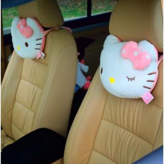 Hello Kitty 粉紅點點 汽車枕頭 護頸枕 超可愛共2款