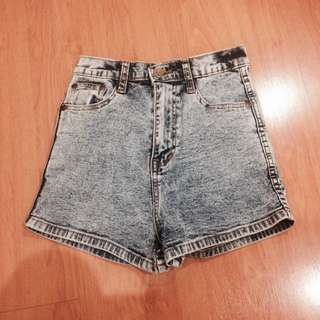 { PENDING } Acid Wash High Waist Shorts