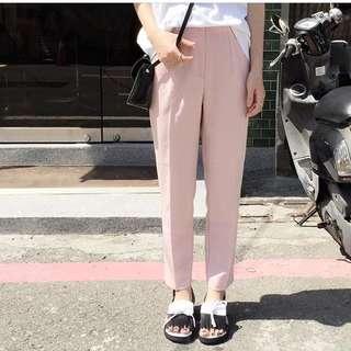 顯瘦高腰鉛筆褲(粉色)