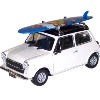 New Welly DIECAST 1:36 Mini Cooper 1300 Surfboard Car WHITE COLLECTION GIFT Toy