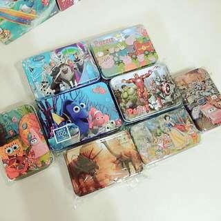 卡通圖案鐵盒拼圖