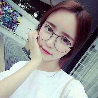 韓版 學院原宿復古大框眼鏡