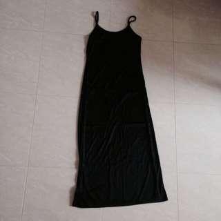 💮SALE💮 Black Spag Basic Maxi Dress