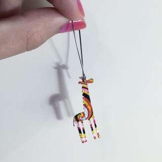 長頸鹿單隻耳環