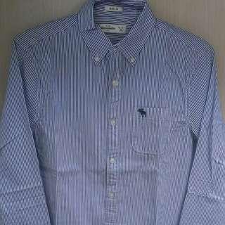 全新正品 a&f kids100%純棉長袖襯衫