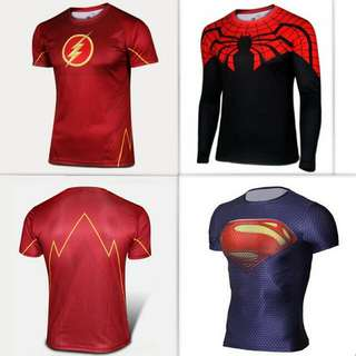 Ready Stock Compression Dry-fit Marvel DC Superheroes