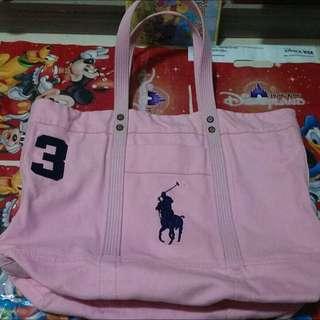 Polo ralph Lauren 3號大馬經典款 帆布刺繡戰馬LOGO包