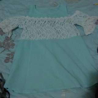 藍綠色洋裝