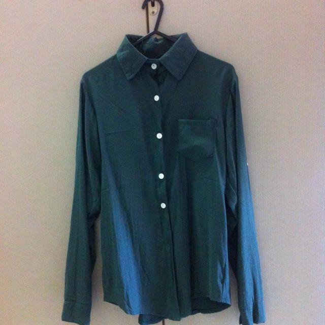 墨綠色單口袋襯衫✨降180
