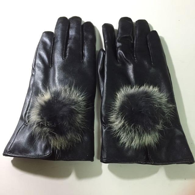 全新赫本皮革手套