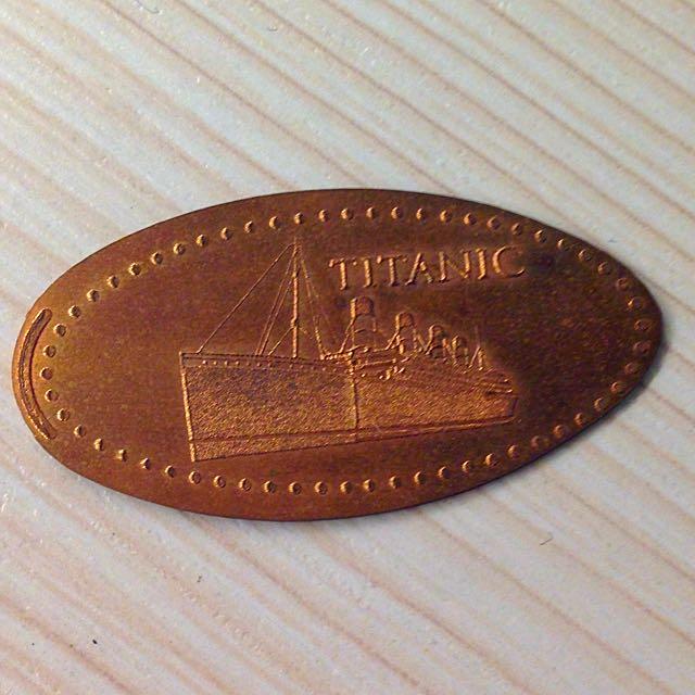 鐵達尼號特展紀念幣、船票