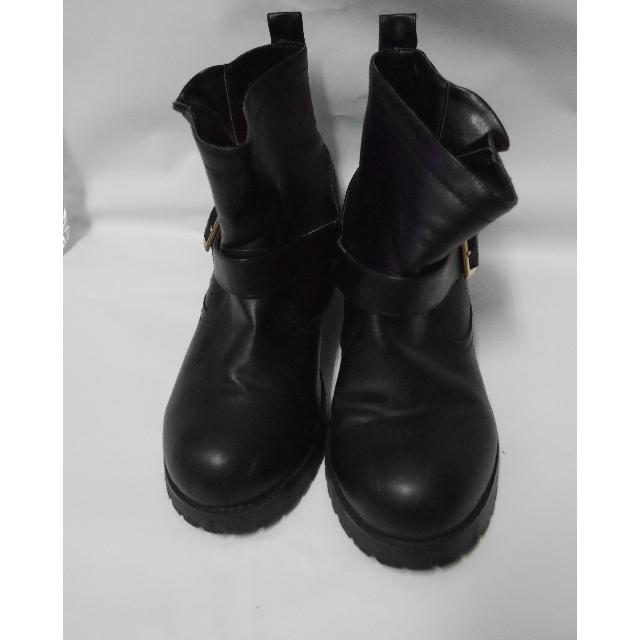 (保留)Air space 羊紋雙側釦內增高迷你短筒工程靴