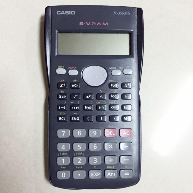 已預定  CASIO fx-350MS 工程計算機