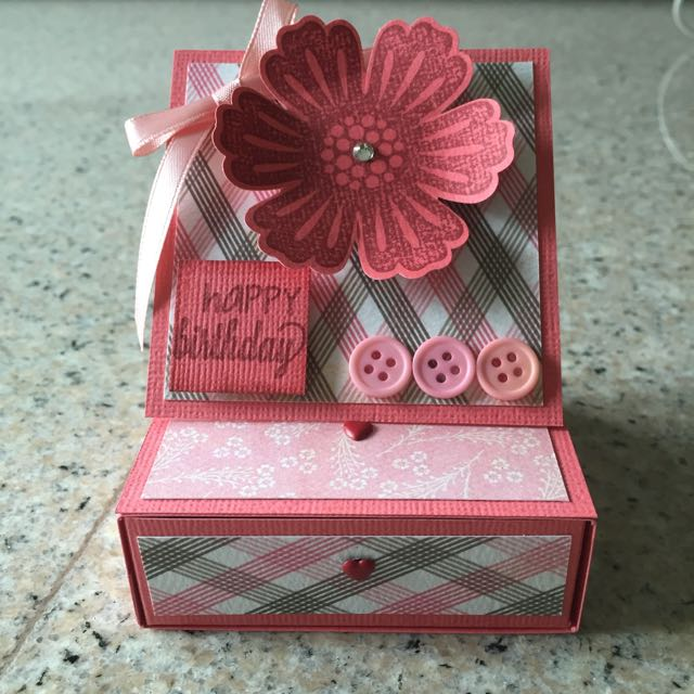 Handmade Gift Box With Easel Card Design Craft On Carousell