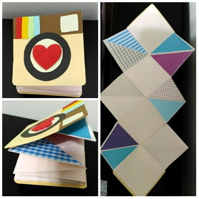 【艾咪手作】IG 造型 多層次折疊 手工卡片 相片卡片 生日卡片 情人卡片 七夕 情人節 現貨