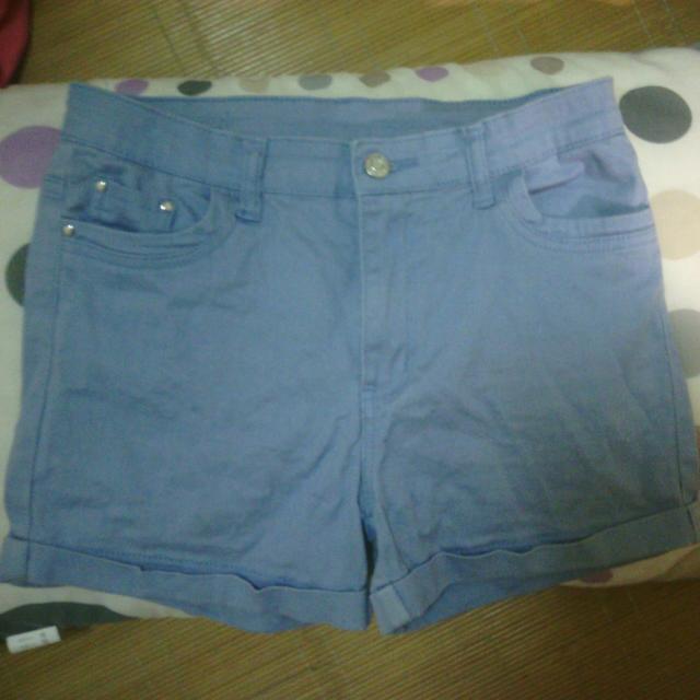 水藍短褲L號 #衣櫃炸了救我