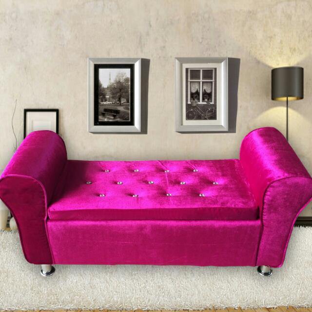 Modern Style Ottoman Sofa Bench W Storage, Home & Furniture ...