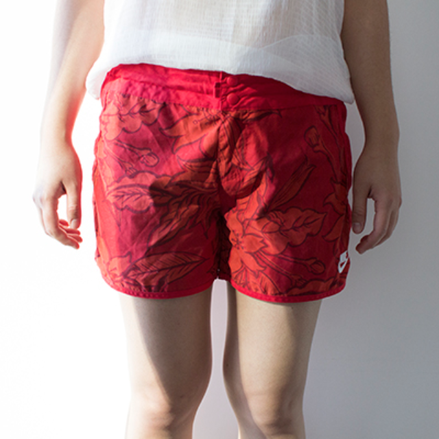 Nike Red Floral Beach Shorts
