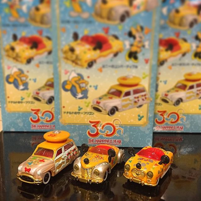 Tomica 迪士尼 絕版 30週年金色特仕車 三台一組✨