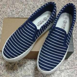 藍條紋懶人鞋