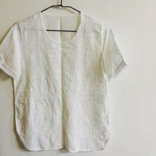 《日系棉麻刺繡上衣》