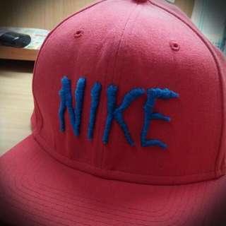 *正品 NIKE  紅色棒球帽