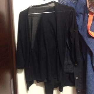 薄黑色外套
