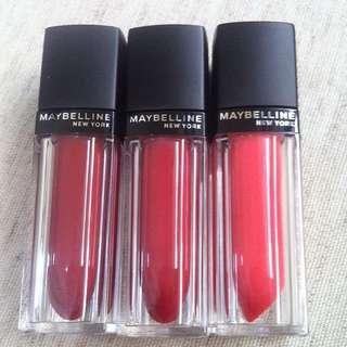 Maybelline霧面唇蜜(僅試色)