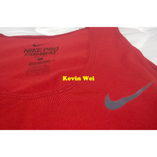 Nike Pro Combat Tank Top Wife Beater size: L號 Red 紅 緊身衣 背心 Compression 272434-648