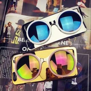 (現貨免運6plus銀色)韓國眼鏡造型手機殼❤️2色