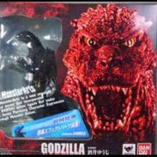 代理版SHM S.H.MonsterArts GODZILLA  紅蓮、太空、初回特典 哥吉拉