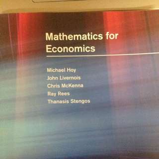 經濟數學 Mathematics For Economics