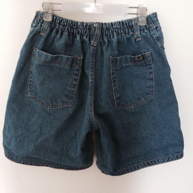 小男孩風五分牛仔短褲