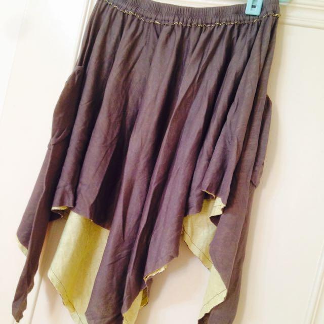全新吊牌未拆西門誠品專櫃購入側邊口袋下擺不規則撞色設計感裙