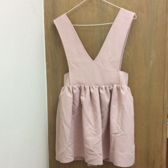 全新 正韓 質感吊帶裙 粉色 可愛氣質風格