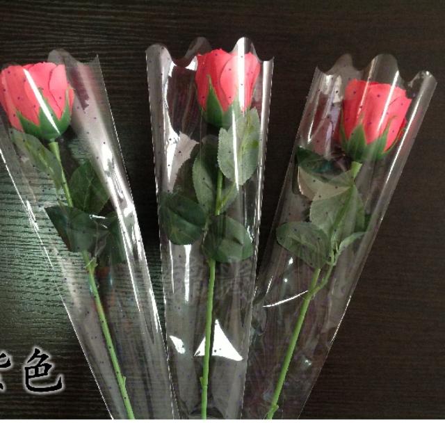 單支花套,買二送一 (透明花套 花束 包裝材料 三角 星星 鮮花 玫瑰花 康乃馨 包材 塑膠袋 婚禮小物包裝)