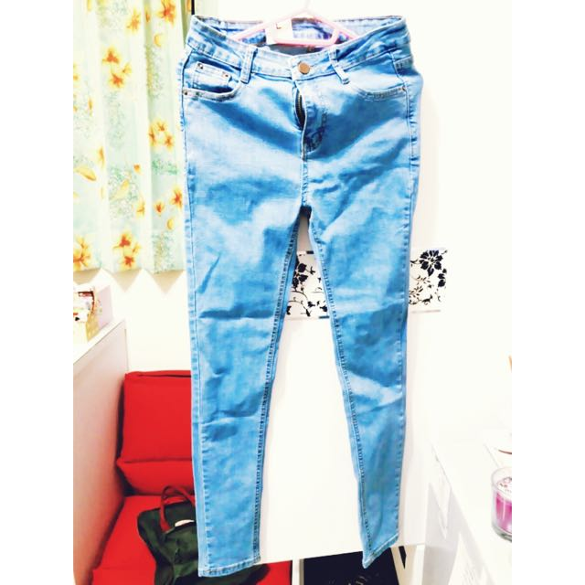 淺藍長褲 L