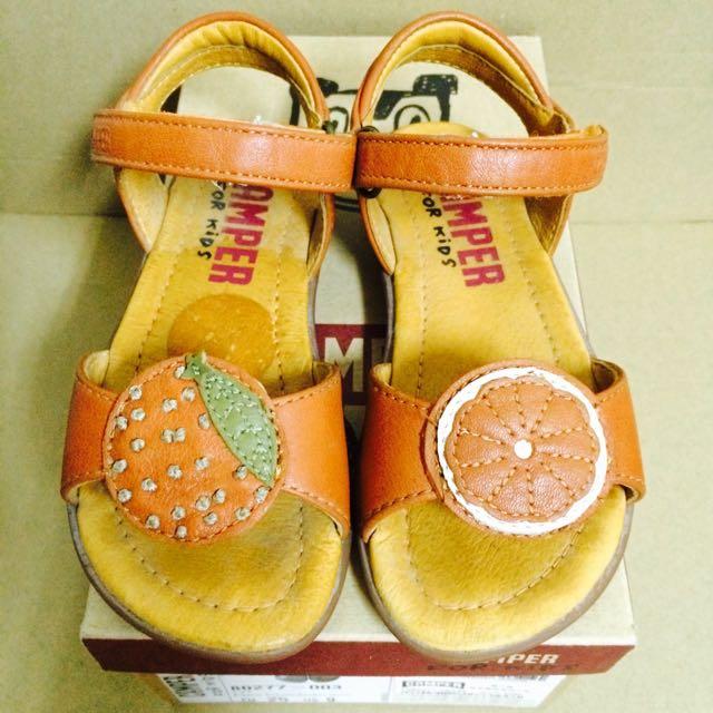 CAMPER FOR KIDS KID  兒童 小孩 鞋 橘色 橘子 涼鞋