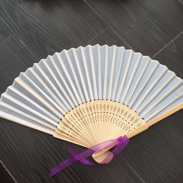 Fabric and Wood Fans