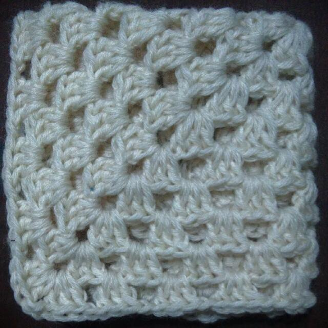 Handmade Crochet Granny Square Coasterplacematbaby Blanket Babies