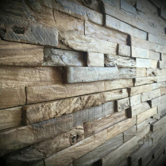 Reclaimed Wood Wall Rustic Panels Decorative Home Decor Teak Recycled Design Craft On Carou