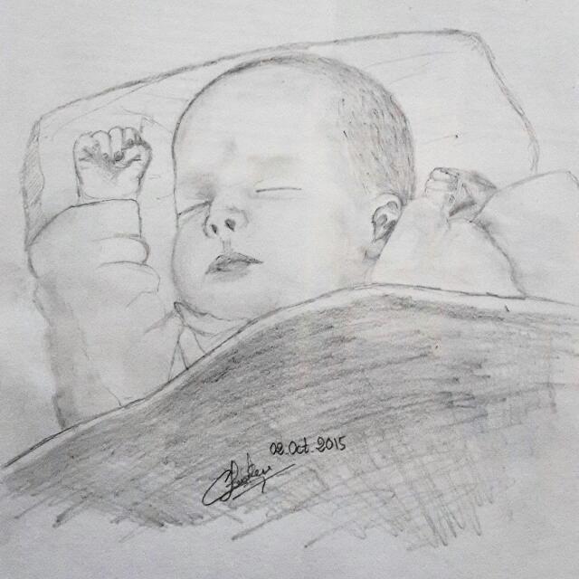 Sketched portrait (Graphite)
