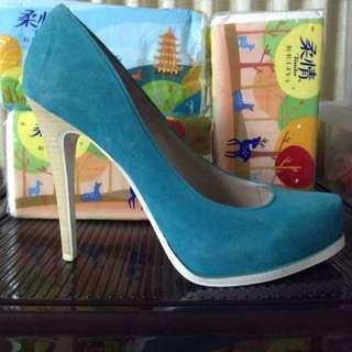 BCBG正品 全新高跟鞋 糖果湖水藍
