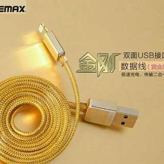 Remax黃金充電線