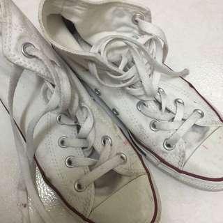 Converse 白高筒鞋