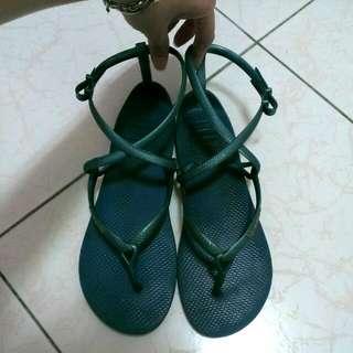 【havaianas】人字拖綁袋涼鞋 孔雀藍