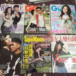 范瑋琪封面或內容有報導的多本雜誌